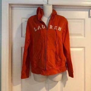 Ralph Lauren orange hoodie